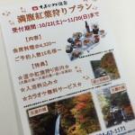 満腹紅葉狩りプラン登場!!☆10月22日(土)~11月20日(日)まで☆
